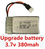 CG032 Parts-14 Upgrade Battery 3.7v 380mah 25C(Size-3.9X2X0.7CM)-1pcs