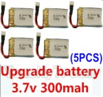 CG032 Parts-15 Upgrade 3.7v 300mah battery for the DFD F180C F180D Quadcopter(5pcs)
