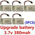 CG032 Parts-16 Upgrade Battery 3.7v 380mah 25C(Size-3.9X2X0.7CM)-5pcs