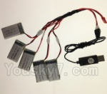 CG032 Parts-19 USB Charger wire & Upgrade 1-to-5 Conversion wire((Not include the 5 battery)