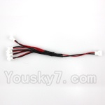 CG032 Parts-21 Upgrade 1-to-5 Plug wire(Small White-to-White Plug)