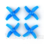 JJRC H36 Spare Parts-03 Propellers,Main rotor blades(4pcs)-Blue