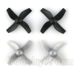 JJRC H36 Spare Parts-06 Propellers,Main rotor blades(4pcs)-Gray
