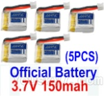 JJRC H36 Spare Parts-13 Official 3.7v 150mah Battery(5pcs)