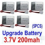 JJRC H36 Spare Parts-14 Upgrade 3.7v 200mah Battery(5pcs)