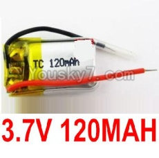 3.7V Battery 01 3.7V 120MAH 15C Battery with Two Wire-651522