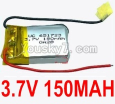 3.7V Battery 02-01 3.7V 150MAH 15C Battery with Two Wire-651723