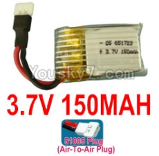 3.7V Battery 02-02 3.7V 150MAH 15C Battery with White 51005 Air-To-Air Plug-651723