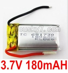 3.7V Battery 03-01 3.7V 180MAH 15C Battery with Two wire-651730