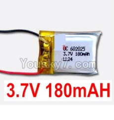 3.7V Battery 03-02 3.7v 180mah 15C Battery with Two Wire-602025