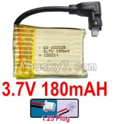 3.7V Battery 03-04 3.7v 180mah 15C Battery with White 1.25 Plug-602025 Version 1