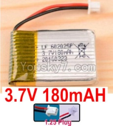 3.7V Battery 03-05 3.7v 180mah 15C Battery with White 1.25 Plug-602025 Version 2