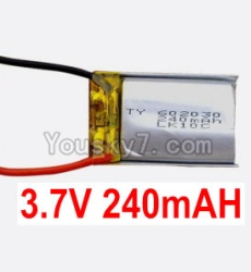 3.7V Battery 06-01 3.7v 240mah 15C Battery with Two wire-602030