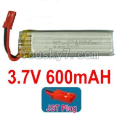 3.7V Battery 15-01 3.7v 600mah 15C Battery with Red JST Plug-751862-Version 2