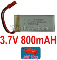 3.7V Battery 18-01 3.7V 800mah Battery with Red JST Plug-802555