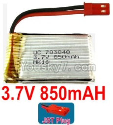 3.7V Battery 19-01 3.7v 850mah 15C Battery with Red JST Plug-703048