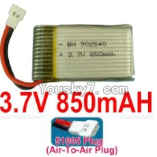 3.7V Battery 19-05 3.7v 850mah 15C Battery with Black 51005 Air-To-Air Plug-902540