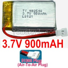 3.7V Battery 20-03 3.7v 900mah 15C Battery with White 51005 Air-To-Air Plug-982540