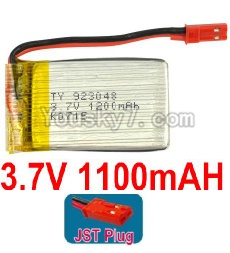 3.7V Battery 22-02 3.7v 1100mah 15C Battery with Red JST Plug-923048