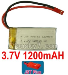 3.7V Battery 23-01 3.7v 1200mah 15C Battery with Red JST Plug-993052
