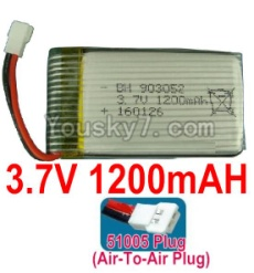 3.7V Battery 23-04 3.7v 1200mah 15C Battery with White 51005 Air-To-Air -993052