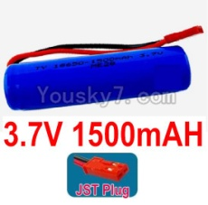 3.7V Battery 26-01 3.7v 1500mah 15C Battery with Red JST Plug-18650