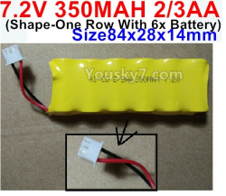 7.2V 350MAH 2/3AA NI-CD Battery-with Special 3P Plug-(Shape-One Row With 6x Battery)-Size-84x28x14mm