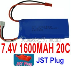 7.4V Battery 32-01 7.4V 1600mah 20C Battery with Red JST Plug-703480