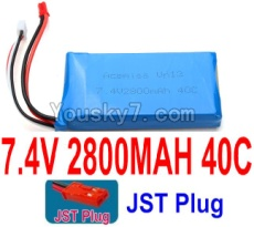 7.4V Battery 73-01 7.4v 2800mah 40C Battery with Red JST Plug