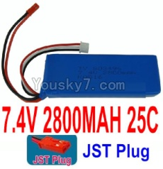 7.4V Battery 78-01 7.4v 2800mah 40C Battery with Red JST Plug-803496