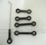 6508-Parts-11 Long connect buckle(2pcs) & Short connect buckle(2pcs) & Servo rod(1pcs)