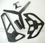 6508-Parts-16 Horizontal and verticall wing with fixtures & Tail cover,tail blade and Pin for the tail blade