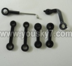 BR6808-parts-16 Long connect buckle(2pcs)& Short connec buckle(2pcs) & Servo connct buckle(1pcs) & 7-Shape buckle(1pcs)
