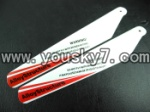 CX-Model-007-helicopter-04 Upper Main rotor blades(2pcs-Red)