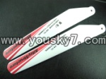 CX-Model-007-helicopter-05 Lower Main rotor blades(2pcs-Red)