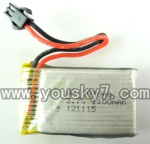 CX-Model-007-helicopter-14 3.7V 1100mah Battery with Black SM plug
