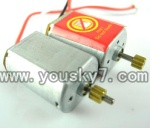CX-Model-007-helicopter-21 Main motor with long shaft and gear & Main motor with short shaft and gear
