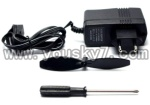 CX-010-parts-35 Charger & Tail blade & Screw driver