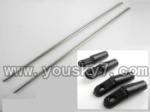 CX-017-helicopter-35 Support pipe(2pcs) & Head fixture for the support pipe(4pcs)