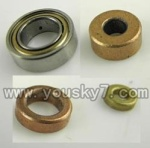 CX-017-helicopter-46 Bearing & Medium-sized copper sleeve ring & Big copper sleeve ring & Small copper sleeve ring