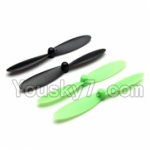 Holy Stone F180C F180D Parts-06 Propellers,Main rotor blades(4pcs-2x Black & 2X Green)