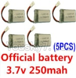Holy Stone F180C F180D Parts-19 Official 3.7v 250mah battery(5pcs)