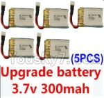 Holy Stone F180C F180D Parts-20 Upgrade 3.7v 300mah battery for the DFD F180C F180D Quadcopter(5pcs)