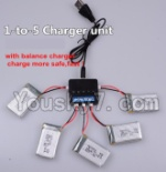 Holy Stone F180C F180D Parts-22 Upgrade 1-to-5 charger and balance charger(Not include the 5 battery)