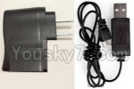 Holy Stone F180C F180D Parts-27 Straight conversion plug & USB Charger