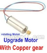 Holy Stone F181-Parts-57 Upgrade rotating Motor with red and Blue wire(1pcs)-With copper gear