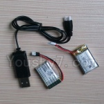 Fayee FY530 parts-23 Battery(2pcs) & 1X USB Cable(1pcs)