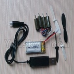 Fayee FY530 parts-24 Battery(1pcs) & Propellers(4pcs) &Whole Set Motor(4pcs) & USB Cable(1pcs)