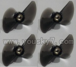 FT007-Boat-parts-02 Tail blade(4pcs)