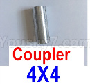 Feilun FT011 Upgrade Parts-Coupler-4X4mm-Silver